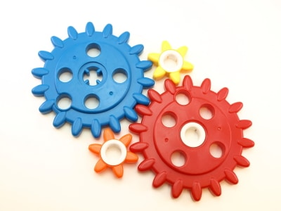 Plastic parts, such as the cogs in this image, occasionally fail