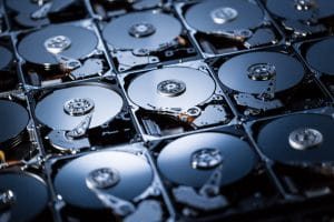 Hard drives affected by microcontamination