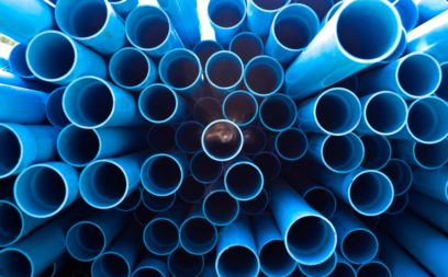 Plastic Pipes in Manufacturing Warehouse
